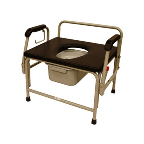 Best Price Bariatric Drop-Arm Round Commode by Roscoe Medical
