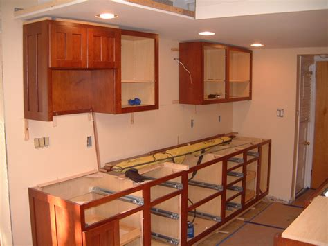 Base Kitchen Cabinets Install