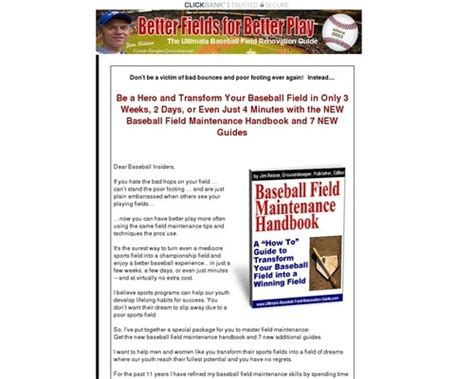 [click]baseball Field Maintenance Handbook.