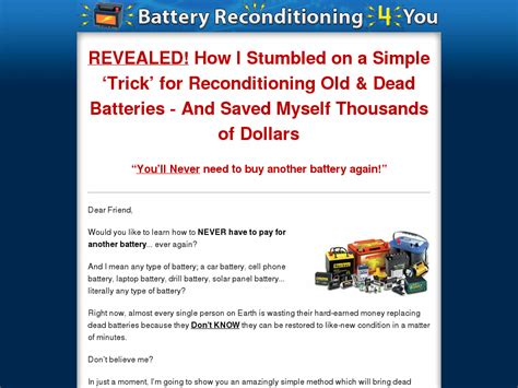 [click]battery Reconditioning 4 You - 100 Commission .