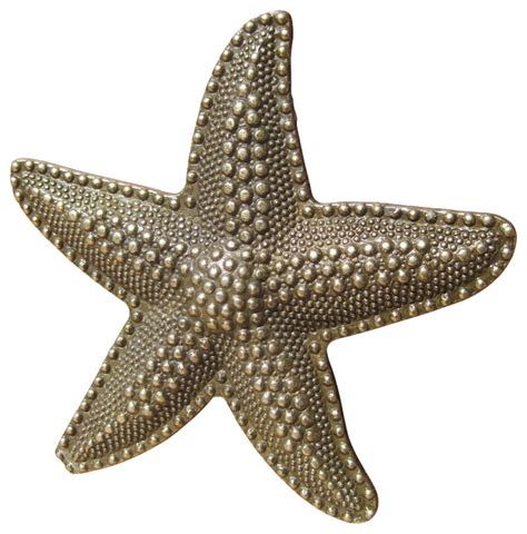 Beach House Starfish Drawer Knobs - Beach Style - Cabinet .
