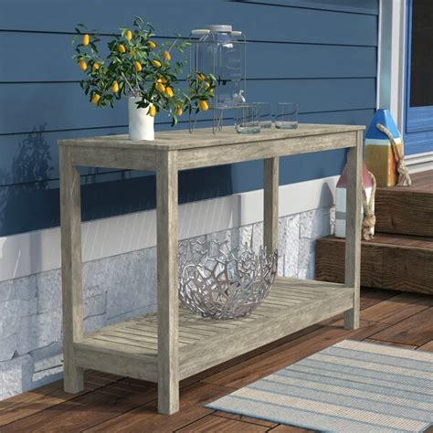 Beachcrest Home Englewood Wooden Console Table From