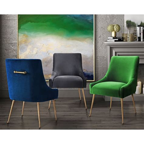 Beatrix Green Velvet Side Chair - Walmart Com.