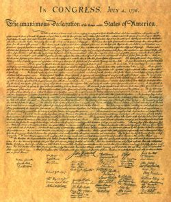 Benjamin Franklin Declaration of Independence
