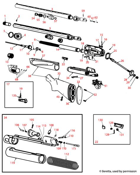 Beretta  A400 Lh Schematic - Brownells Uk.