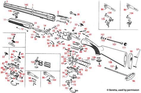 Beretta 686 Silver Pigeon Competition Schematic .