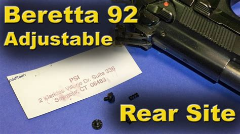 Beretta 92f And Replacement Rear Site Adjustable  Review.