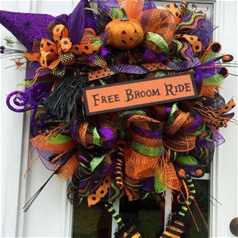 Best Halloween Witch Deco Mesh Wreath Products On Wanelo.