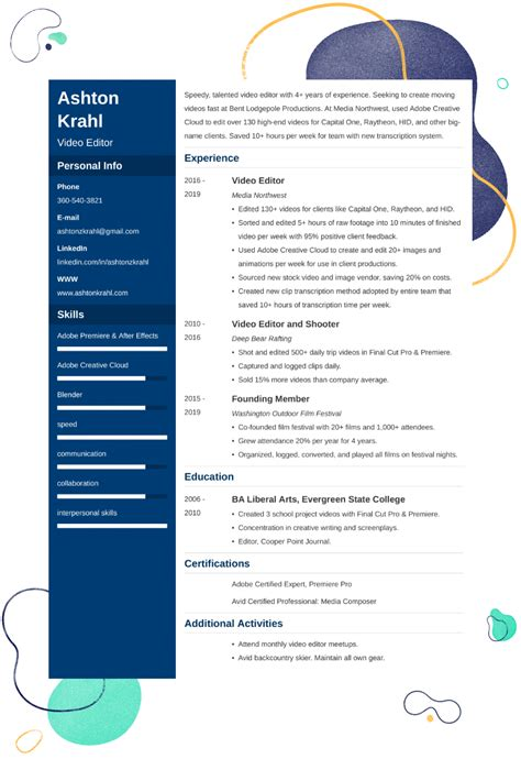 best resume format for video editor   getting references for resumebest resume format for video editor
