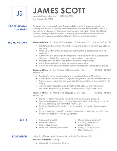 best sample nurse resume - Make A Free Resume And Save It
