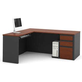 Bestar 174 L Desk With Pedestal - 71 Quot - Bordeaux .