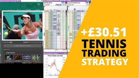 Betfair Trading Tennis Strategy.