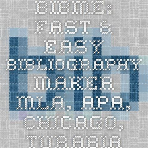 Bibme Free Bibliography  Citation Maker - Mla Apa .