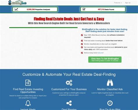 Birddogbot – Real Estate Deal-Finding Solution For Investors.