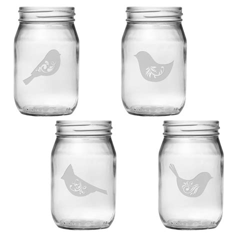Birds Of A Feather Mason Jars  Ebay.