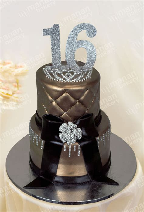 Birthday Cake Gold Sweet Sixteen