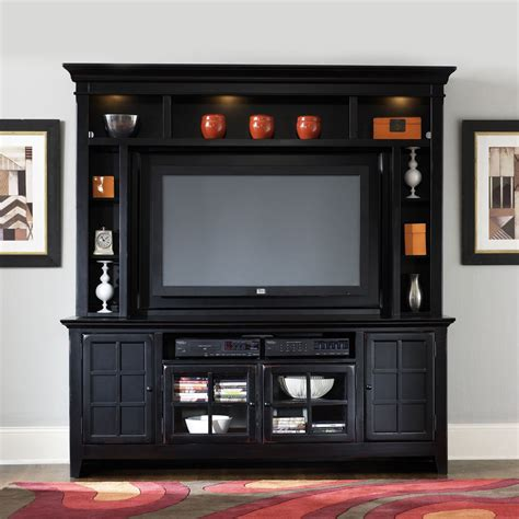 Black Distressed Entertainment Center