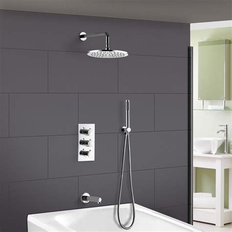 Black Friday Thermostatic Triple 3 Way Concealed Shower .