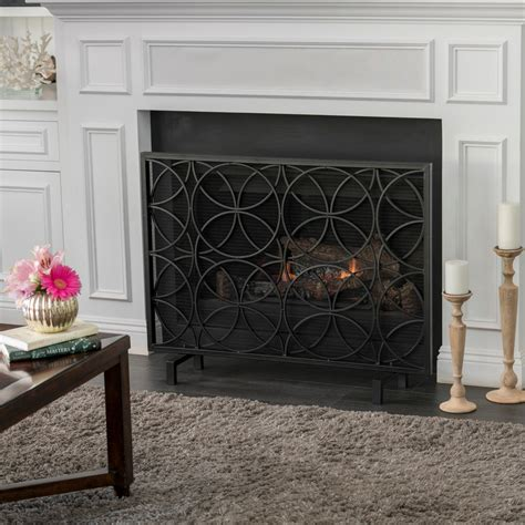 Black Iron Fireplace Screen  Tyres2c.