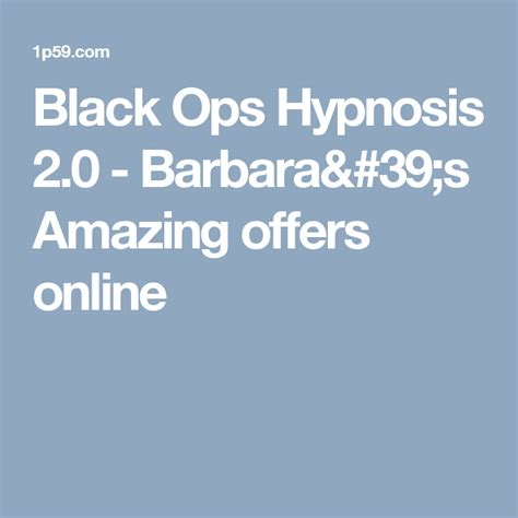 @ Black Ops Hypnosis 2 0 - Online Amazing Offers.