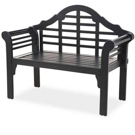 Black Outdoor Bench Target
