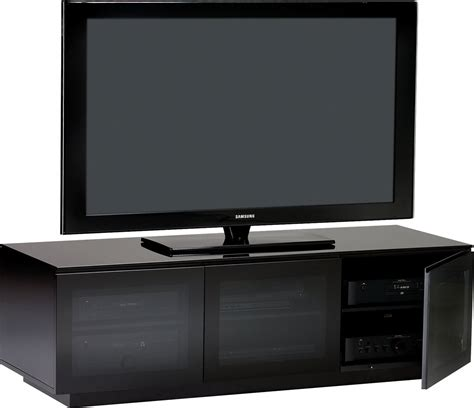 Black TV Stand With Doors