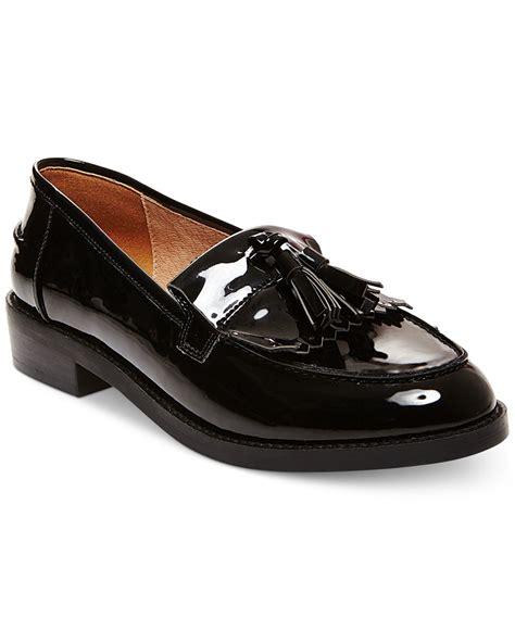 Black Tassel Loafers for Women