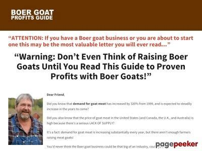 Boer Goat Profits Guide Power Pack - Mropsupply.com.