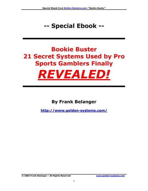 @ Bookie Buster Pdf  Docdroid.