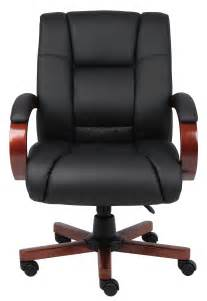 Boss Mid Back Executive Wood Finished Chairs B8996-C .