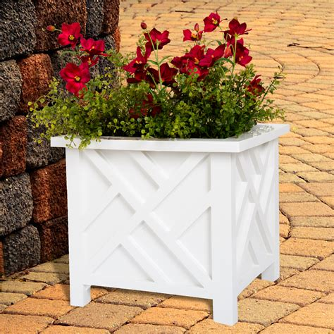 Box Planter - White By Pure Garden - Walmart Com.