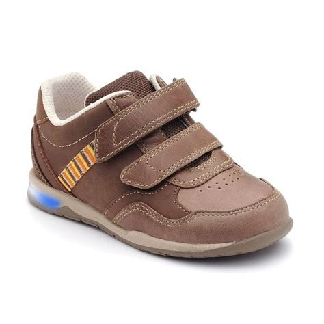 Boys Shoes Velcro Brown