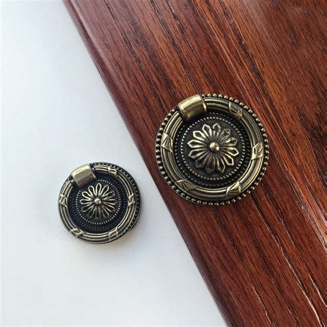 Brass Round Vintage Original Antique Door Knobs  Handles.