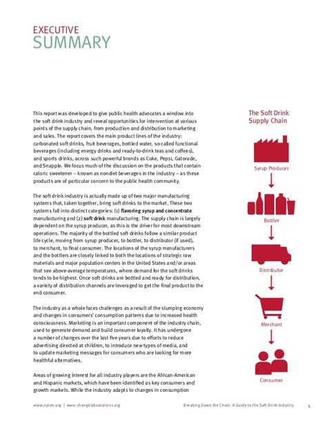 [pdf] Breaking Down The Chain A Guide To The Soft Drink Industry.