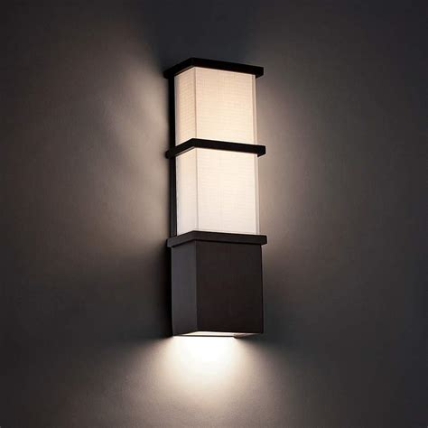 Bronze Contemporary Wall Light Outdoor Lighting  Lamps .