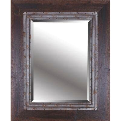 Brown Metal Accent Beveled Mirror Mirrors  Bizrate.