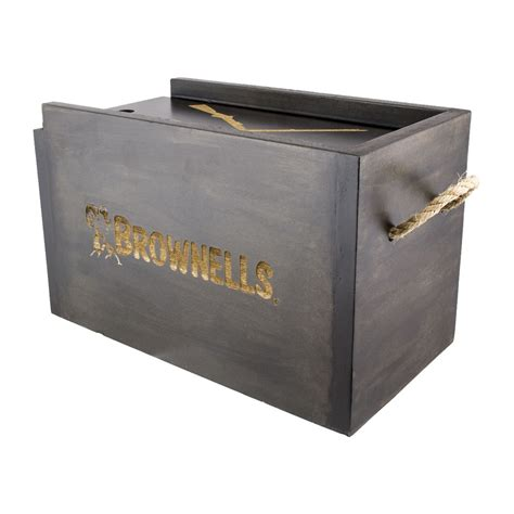 Brownells Decorative Wooden Ammo Box.