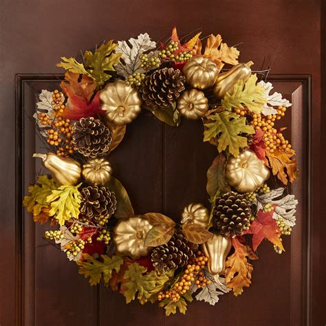 Brylane Home Brylane Home - 24  Outdoor Harvest Wreath .