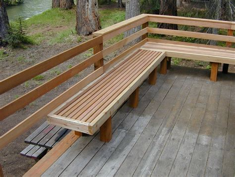 Build Bench On Deck Railing