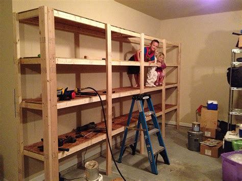 Build Garage Storage Shelves