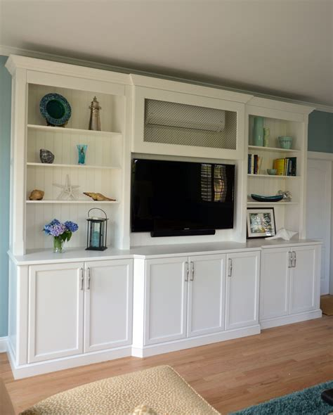 Building Entertainment Centers Using Cabinets
