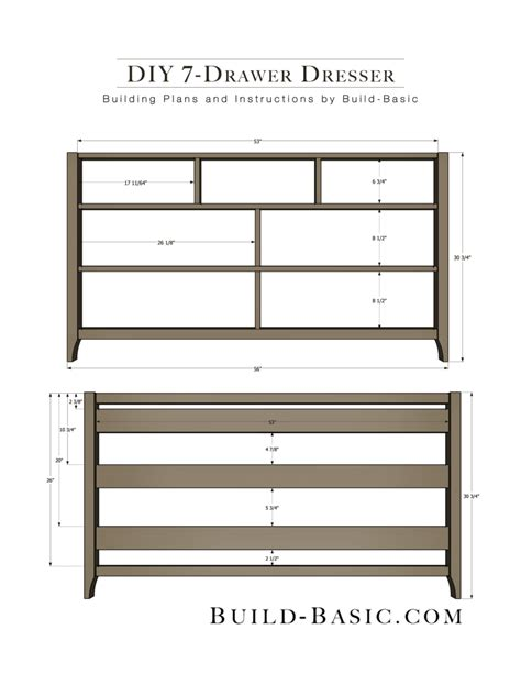 Building Plans For Dresser Drawers
