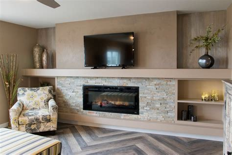Built In Entertainment Center With Electric Fireplace