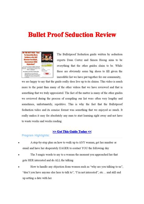 @ Bullet Proof Seduction Programs By Olivia Garcia - Issuu.