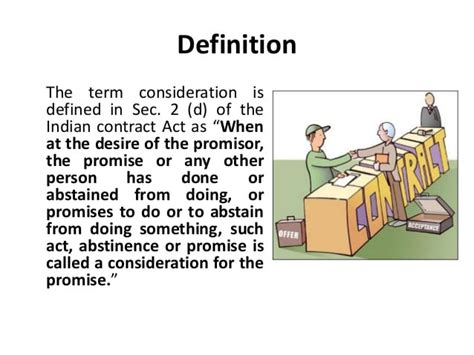 Business Law Definition Consideration