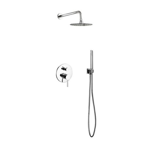 Bustillos Diverter Complete Shower System With Metal Round .