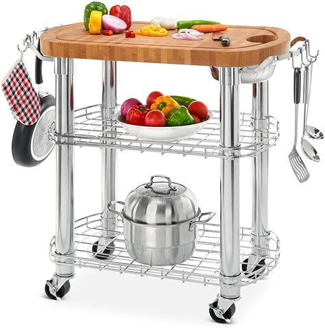 Butcher Block Cart Amazon