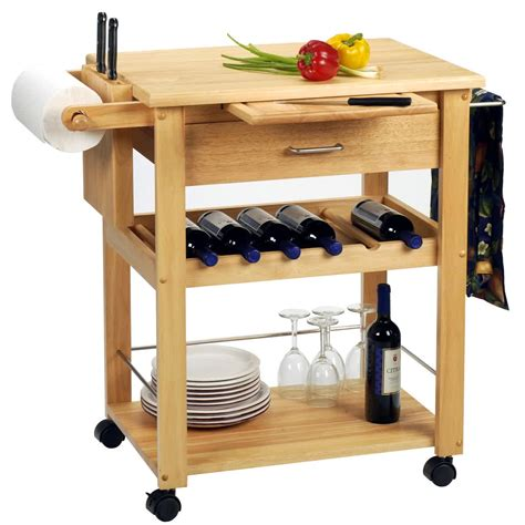 Butcher Block Carts With Wheels