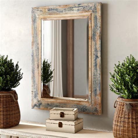 Buy Brown Rectangular Wall Mirror Mirrors Online At .