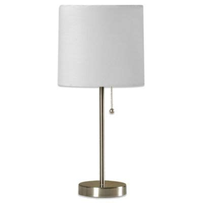 Buy Brushed Steel Lamp From Bed Bath  Beyond.